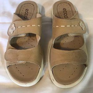 ECCO leather sandals beige size 39 EUR US 8.5-9